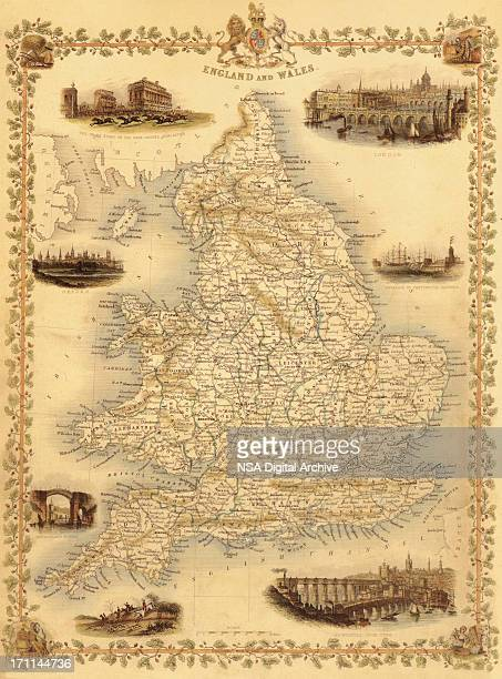 Map of England and Wales from 1851