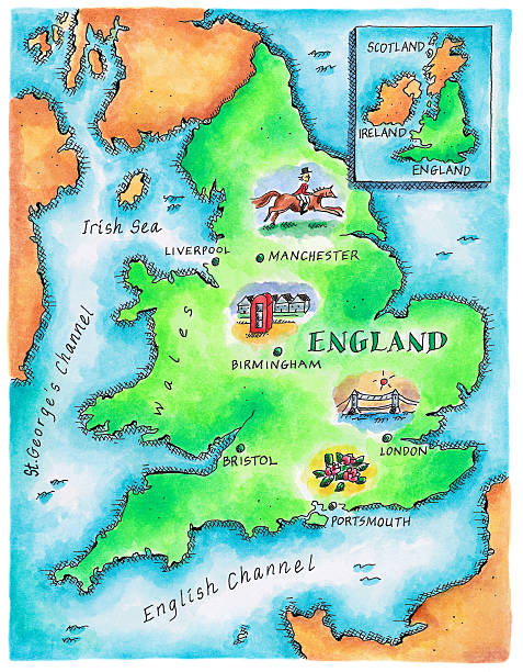 Map Of England Wall Art