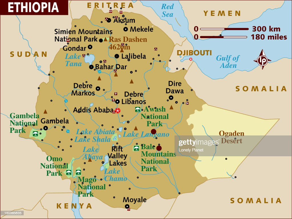 Map Of Ethiopia Stock Illustration Getty Images - Gondar map