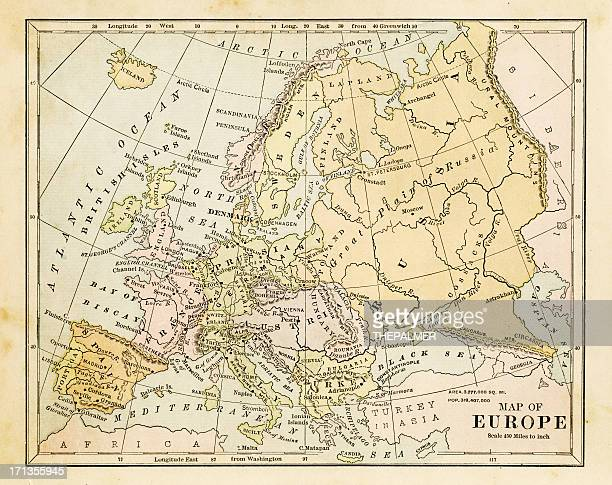 map of europe 1877