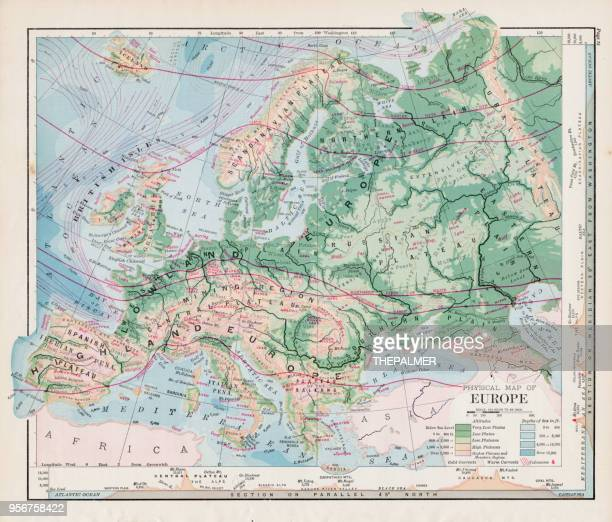 map of europe 1877 - central europe stock illustrations, clip art, cartoons, & icons