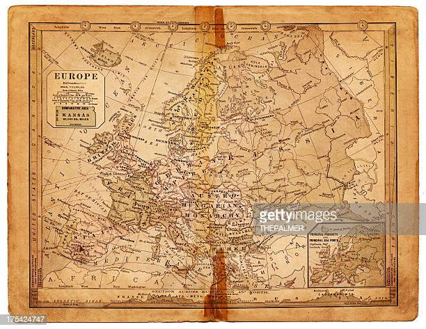 map of europe 1884