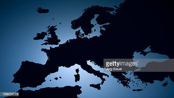 ilustraciones, imágenes clip art, dibujos animados e iconos de stock de a map of europe - geografía física