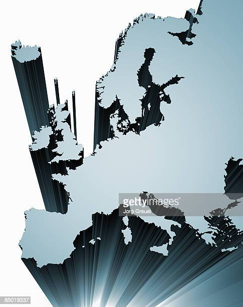 map of europe - germany stock illustrations