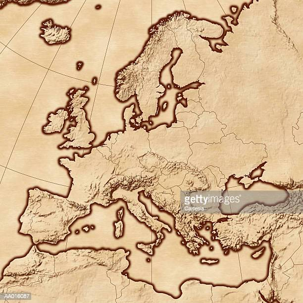 map of europe - bay of biscay stock illustrations, clip art, cartoons, & icons