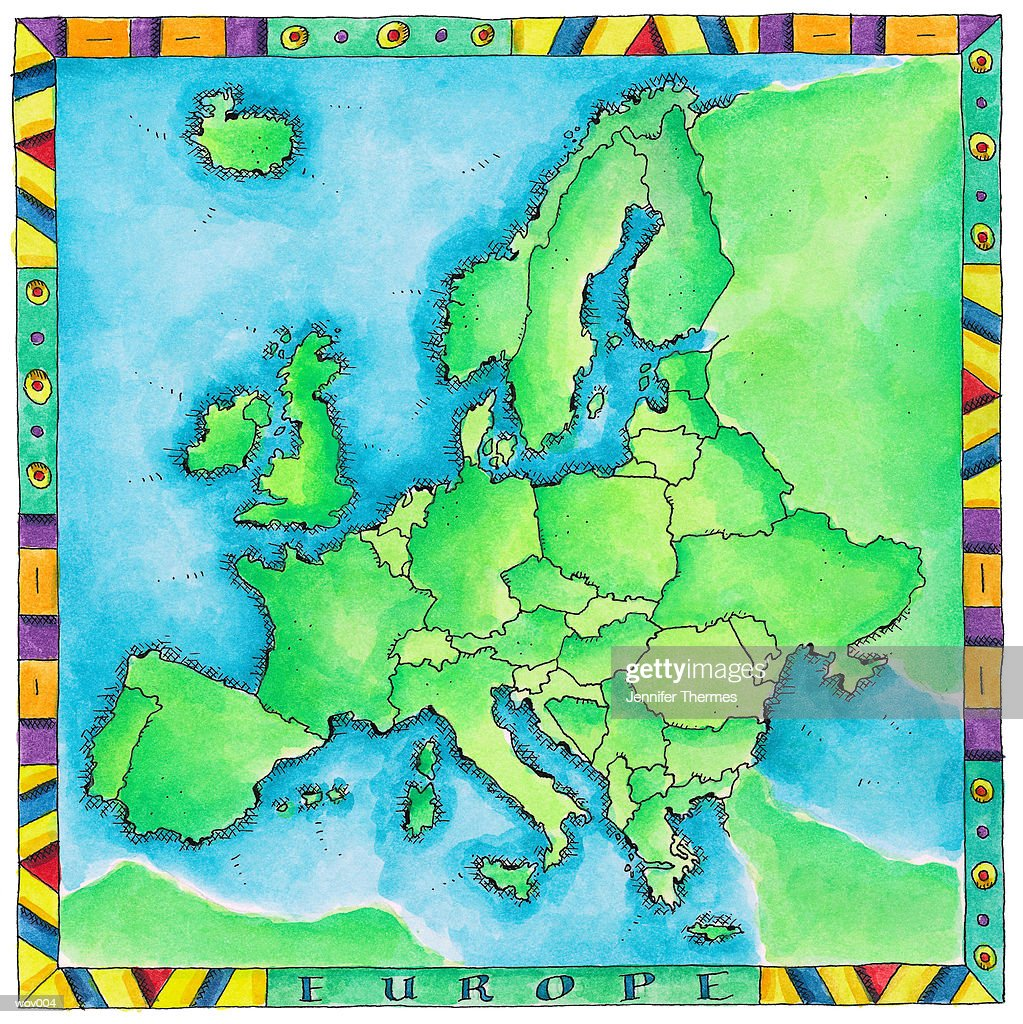 Map of Europe : Stock Illustration
