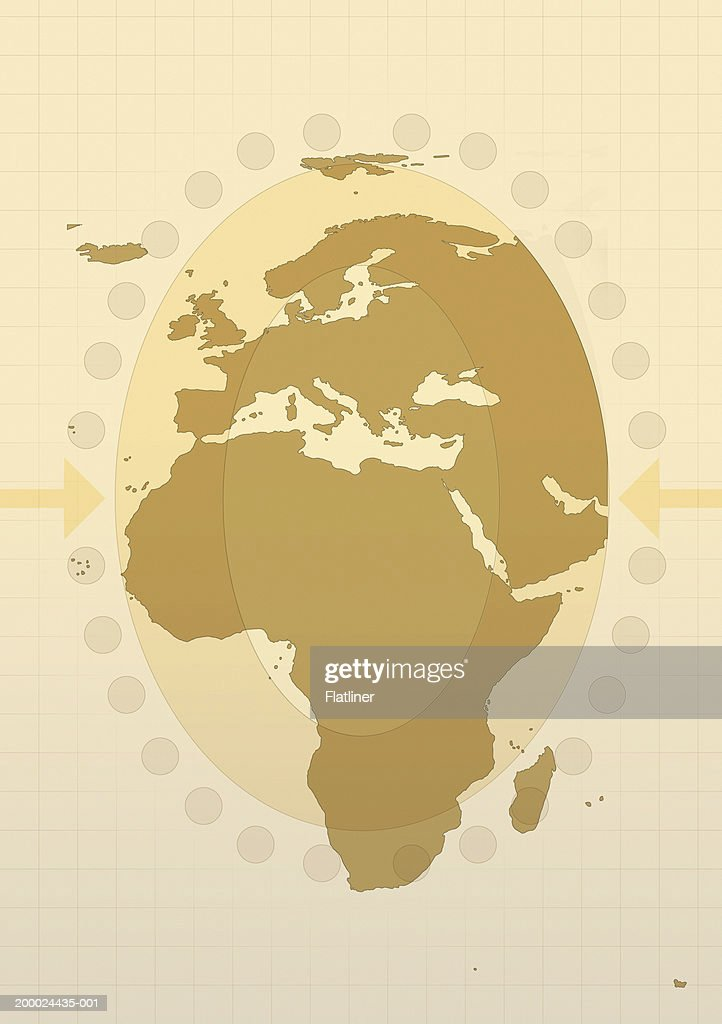 Map Of Europe Middle East And Africa Stock Illustration ...