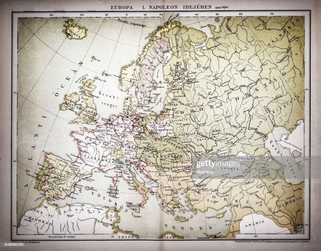 Map Of Europe Napoleon Idea 1810 Stock Illustration Getty Images