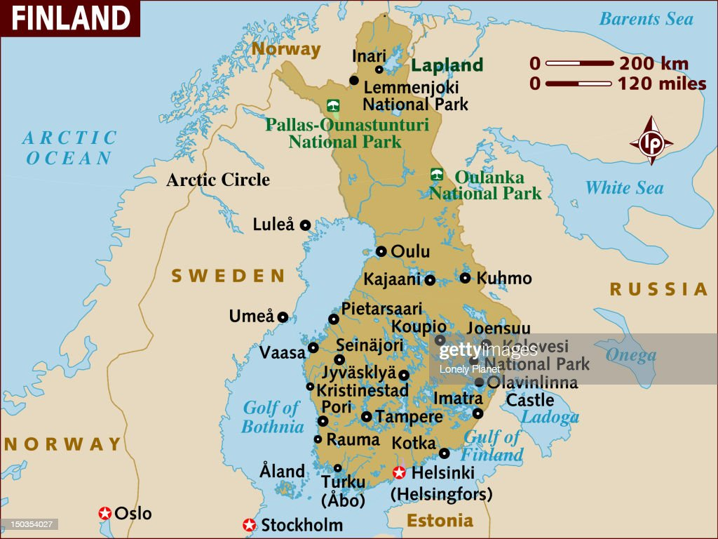 Map Of Finland Stock Illustration Getty Images