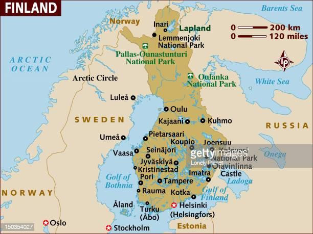 map of finland. - helsinki stock illustrations, clip art, cartoons, & icons