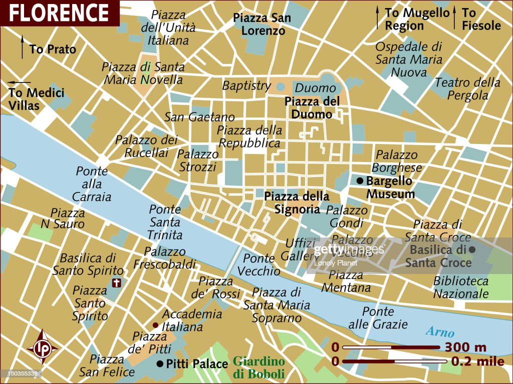 Map Of Florence Stock Illustration Getty Images