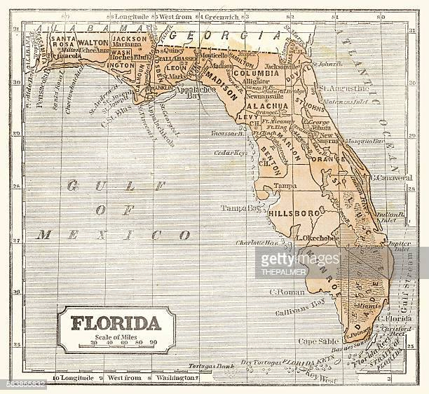 Map of Florida 1855