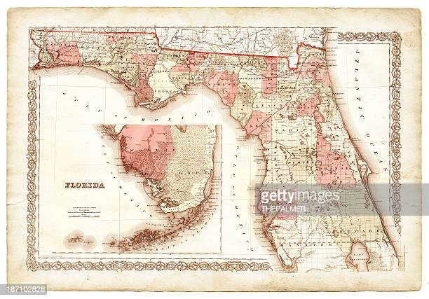 Map of Florida 1868