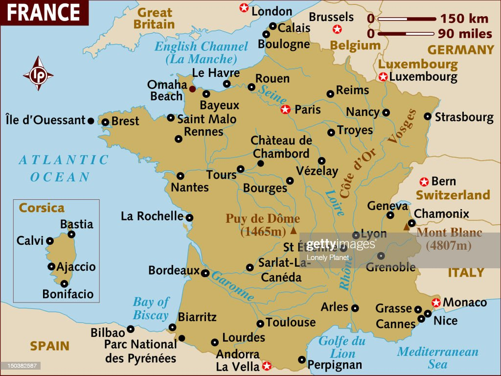 Vezelay France Map.Map Of France Stock Illustration Getty Images