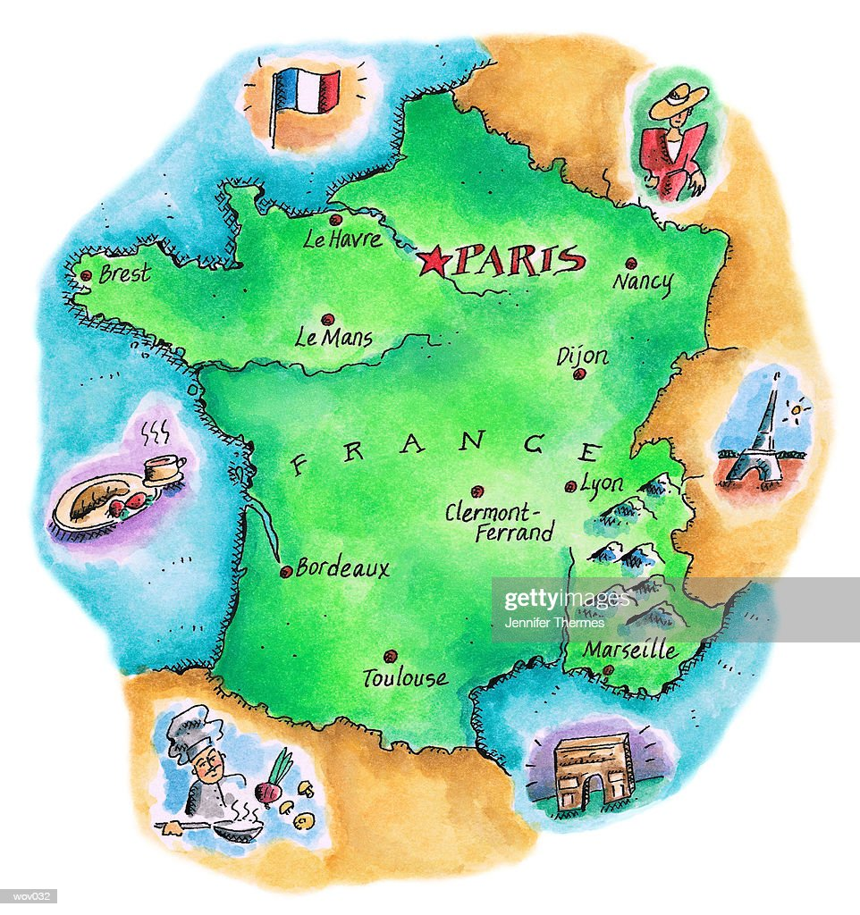 Map of France : Stock Illustration