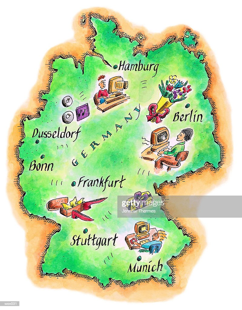 Map of Germany : Stock Illustration