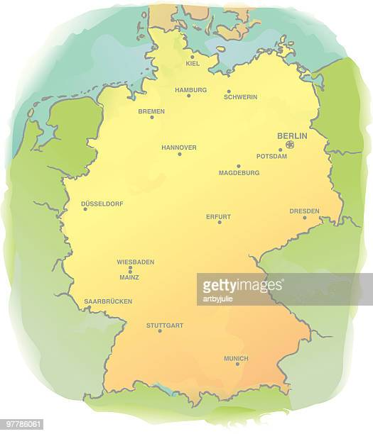 Map Of Germany North Sea.60 Top German North Sea Region Stock Illustrations Clip Art