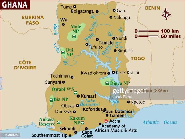 map of ghana. - ghana stock illustrations, clip art, cartoons, & icons