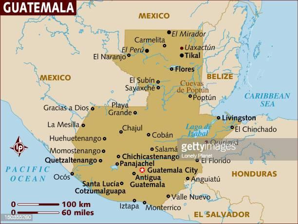 map of guatemala. - guatemala stock illustrations, clip art, cartoons, & icons