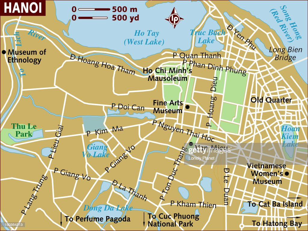 Map of Hanoi. : Stock Illustration