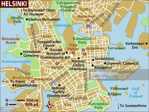map of helsinki. - helsinki stock illustrations, clip art, cartoons, & icons
