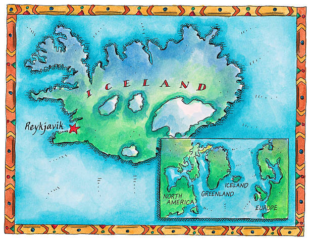 Map Of Iceland Wall Art