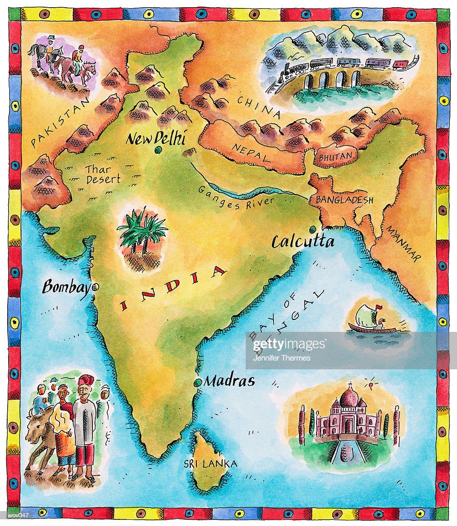 Map of India : Stock Illustration