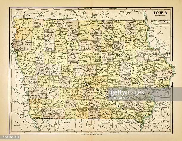 Map of Iowa 1883