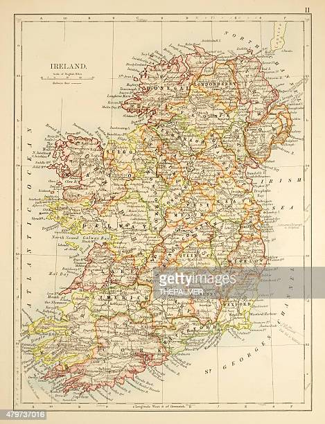 Map of Ireland 1897
