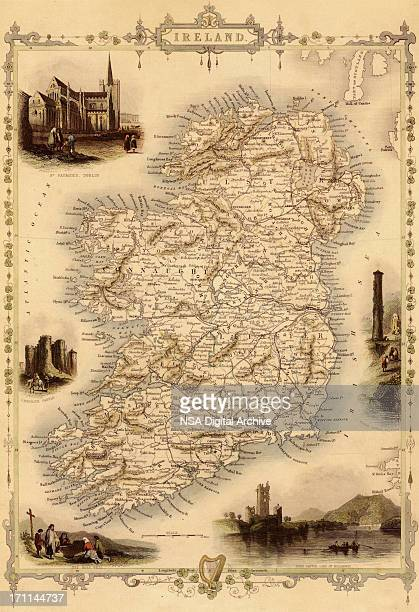 Map of Ireland from 1851
