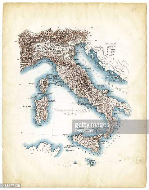 map of italy 1812