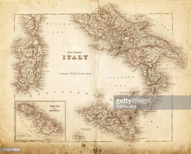 map of italy 1855