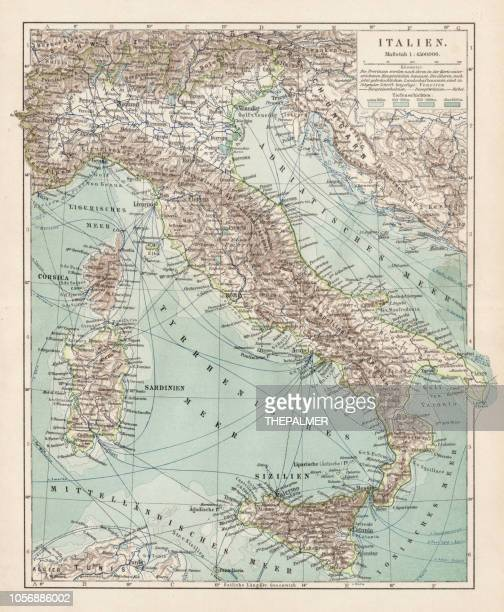 Map of Italy 1900