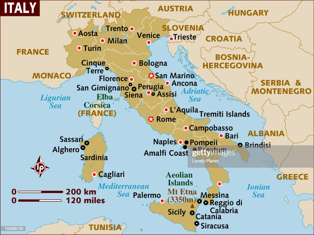 Map Of Italy Stock Illustration Getty Images