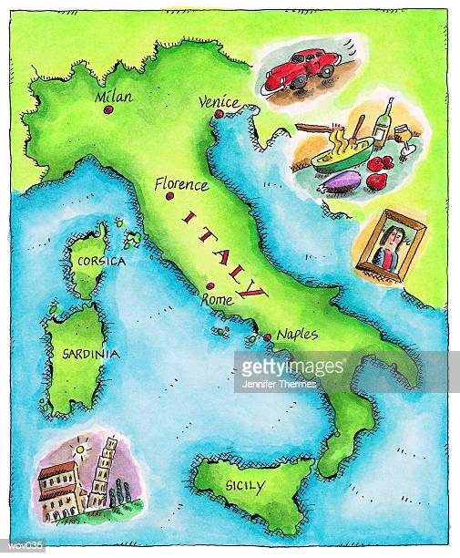 map of italy - pisa stock illustrations, clip art, cartoons, & icons