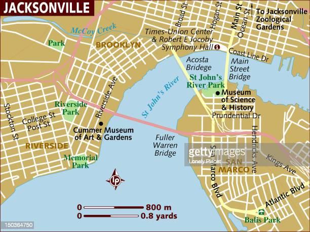 ilustrações, clipart, desenhos animados e ícones de map of jacksonville. - estados da costa do golfo