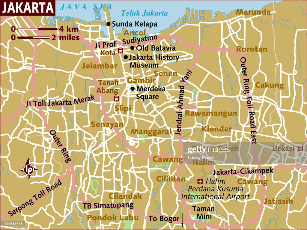 Map Of Jakarta Stock Illustration Getty Images