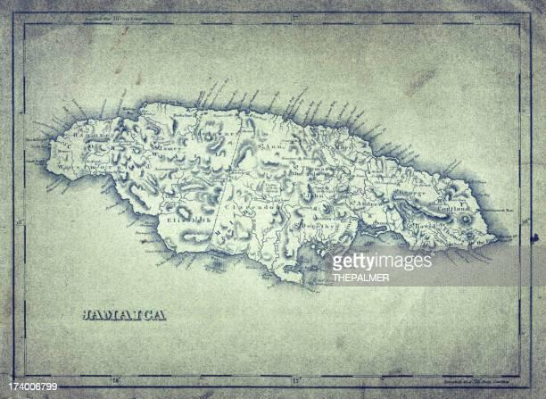 map of jamaica 1824 - jamaica stock illustrations, clip art, cartoons, & icons