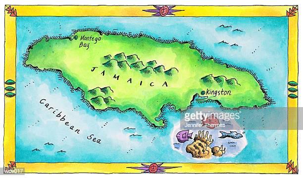 map of jamaica - jamaica stock illustrations, clip art, cartoons, & icons