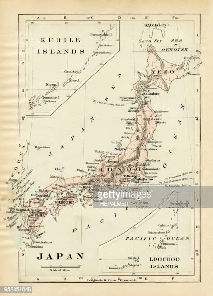 日本 1894 の地図