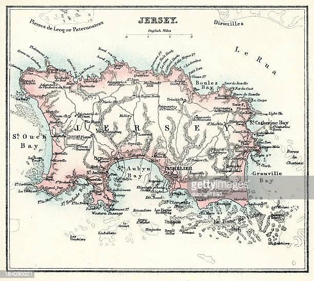 illustrations, cliparts, dessins animés et icônes de carte de jersey - île