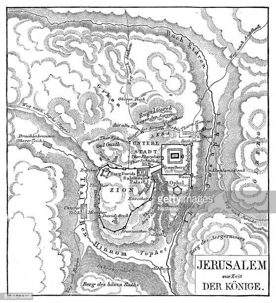 map of jerusalem - jerusalem stock illustrations, clip art, cartoons, & icons