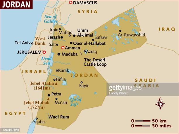 map of jordan. - jordan middle east stock illustrations, clip art, cartoons, & icons
