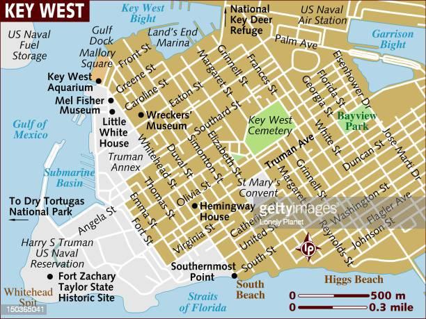 ilustrações, clipart, desenhos animados e ícones de map of key west. - estados da costa do golfo