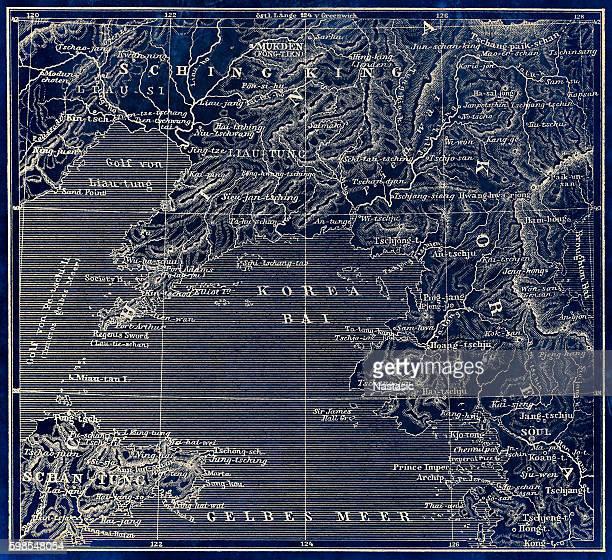 Map of Korea, China