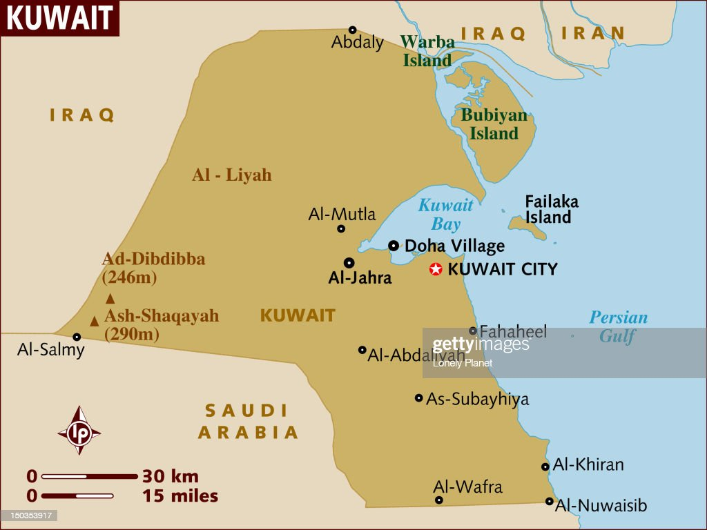 Map Of Kuwait Stock Illustration Getty Images