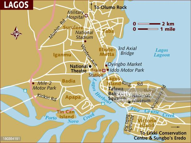 Map of Lagos.