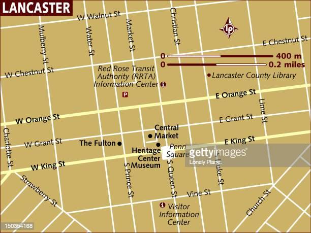 map of lancaster. - lancaster county pennsylvania stock illustrations, clip art, cartoons, & icons