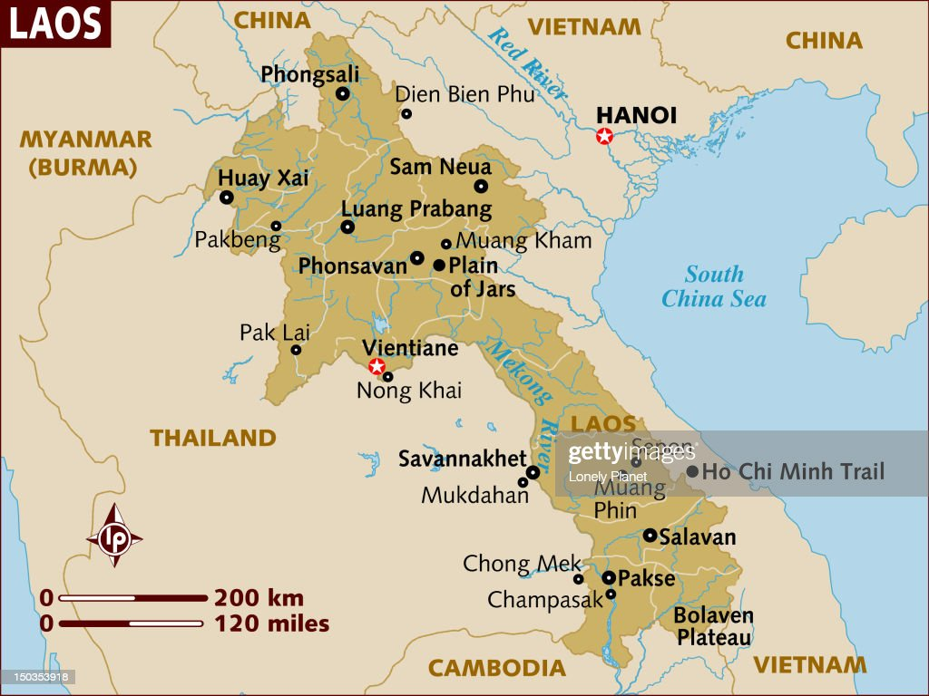 Map Of Laos Stock Illustration Getty Images