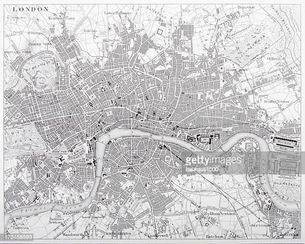Map of London Engraving